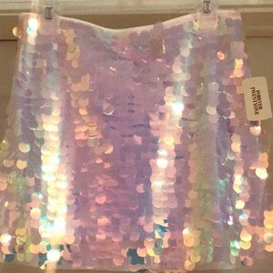 Pink Sequence Mini Skirt